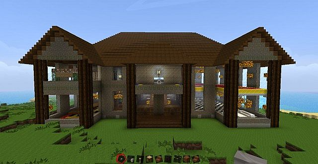 simple mansion minecraft project