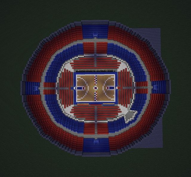 how to make a basketball stadium in minecraft