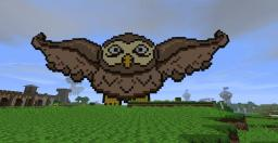 Soaring Owl Pixel Art Minecraft Map & Project