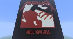 Metallica Kill 'em All album cover Minecraft Map & Project