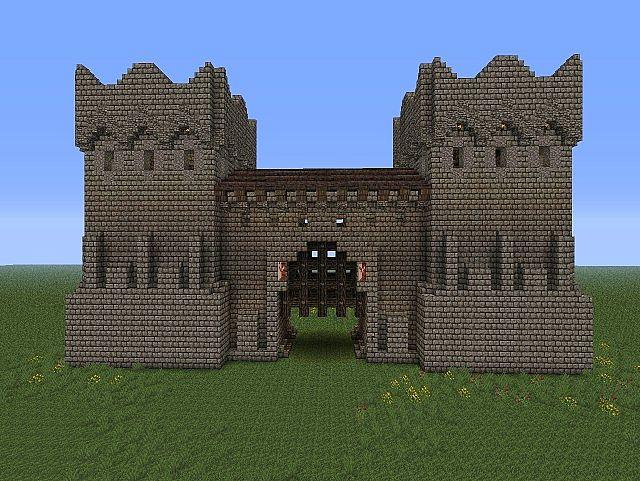 Gatehouse Design on Minecraft Wall Designs
