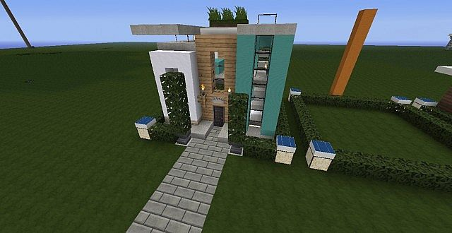 9x9 plot modern house minecraft project