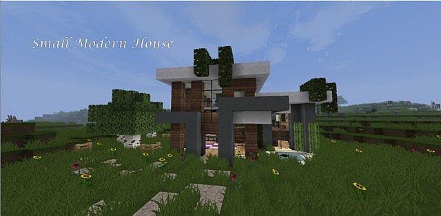 Tiny Modern House Minecraft small modern house minecraft project