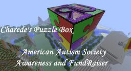 3D Puzzle Box Maze Game. Autism Charity Event Build by Charede Minecraft Map & Project