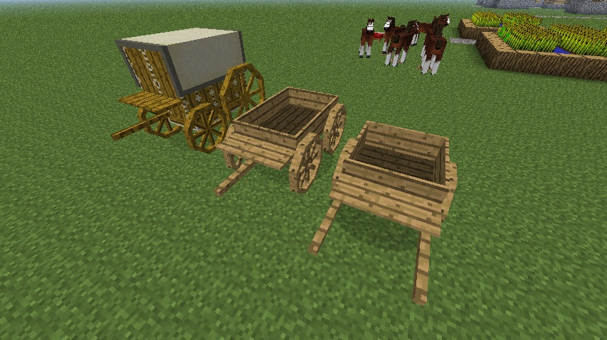 Yet another update idea for minecraft horse drawn carts for How to build a carriage