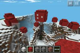 Giant mushrooms in PE Minecraft Blog Post