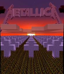 Metallica Master of Puppets album cover Minecraft Map & Project