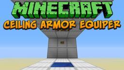 Minecraft: Ceiling Armor Equiper Tutorial Minecraft Project