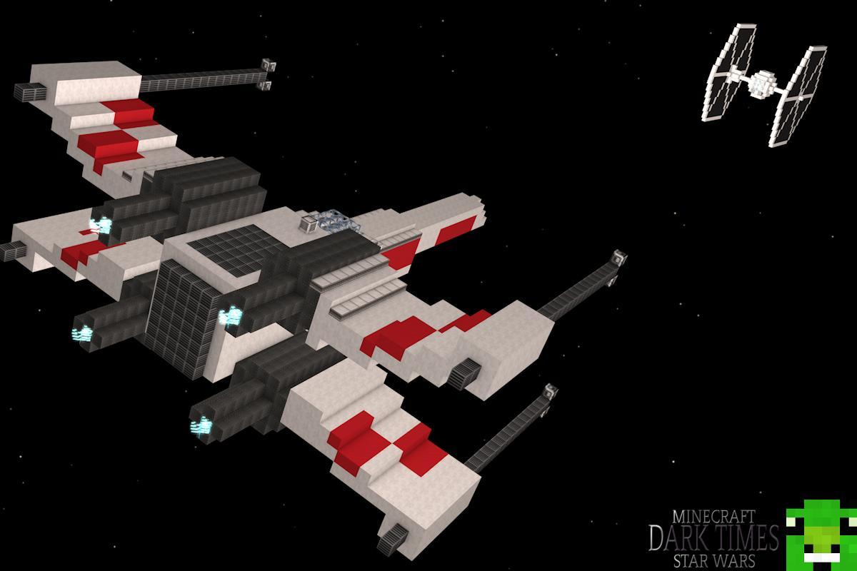 Wing vs Tie Fighter - A Minecraft Star Wars Desktop PosterX Wing Vs Tie Fighter