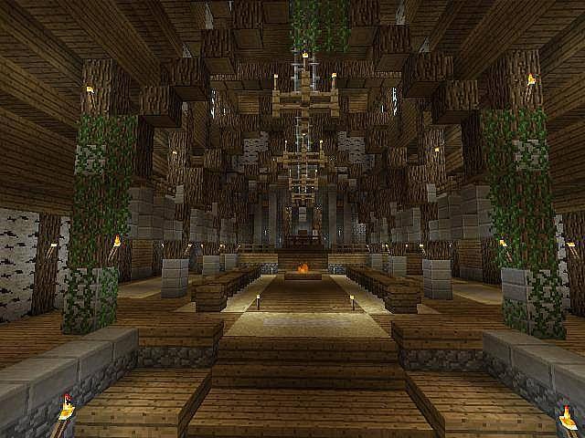 inside castle with parkour