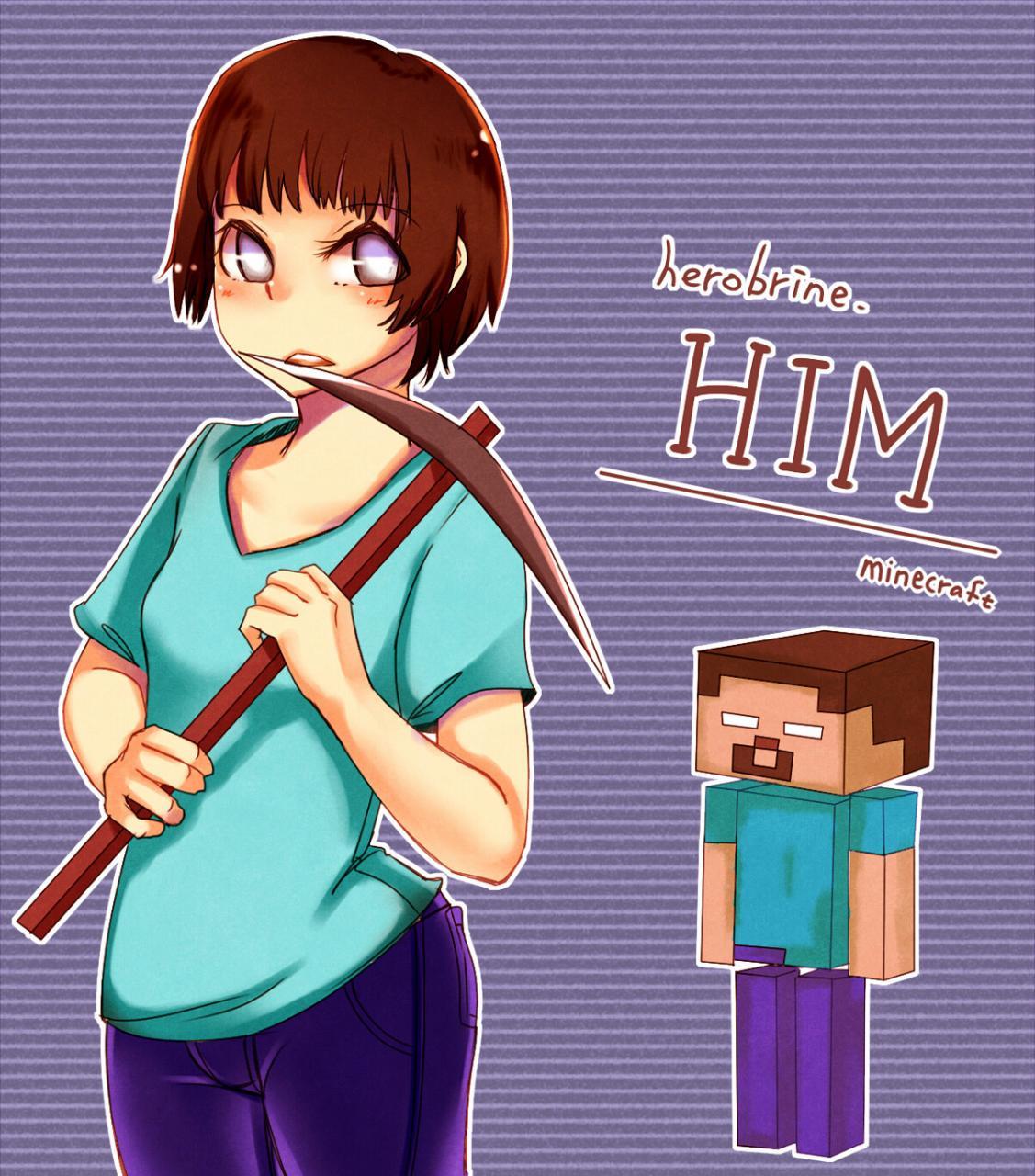 h3r0 g rl herobrine girl minecraft blog