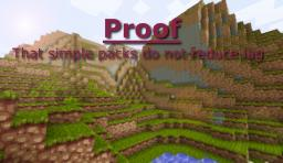 Proof that simple packs do not reduce lag Minecraft Blog Post