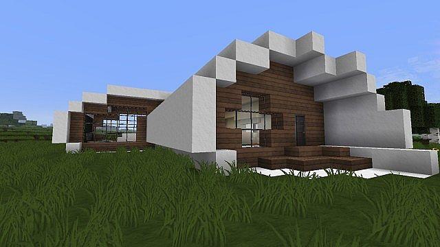 Vuxito medium modern oval house minecraft project for Medium modern house