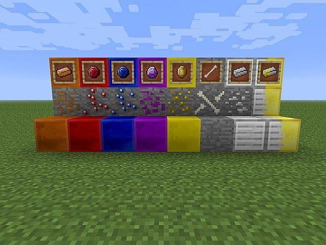 Blocks, Ores and Items