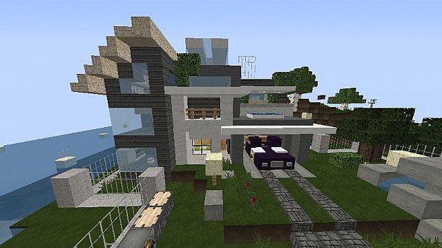 Minecraft Modern Town MMT 1 Modern House 1 Minecraft Blog