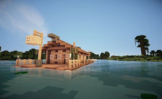 Image Gallery Minecraft Houseboat