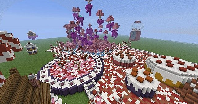 Candy Land HG map (Hunger games map) Minecraft Project on
