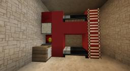 Modern House Bunk Beds with Desk Minecraft Map & Project