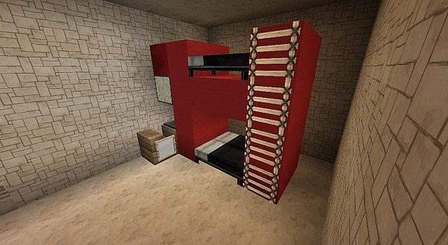 how to make a minecraft bunk bed