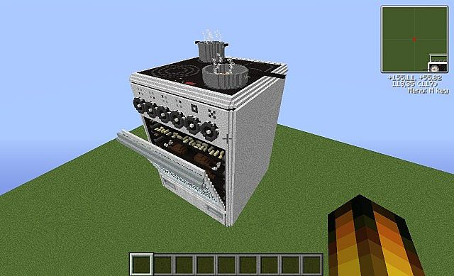 electric stove as piston house + Download Minecraft Project
