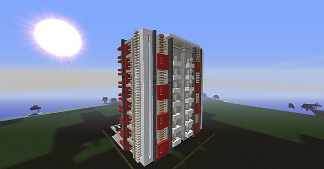 Moderne immeuble 2 minecraft project - Immeuble moderne minecraft ...