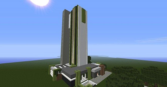 Moderne immeuble 1 minecraft project - Immeuble moderne minecraft ...
