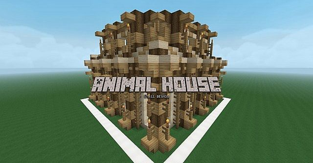 Farmer Animal House Design  Detailed  Minecraft Project