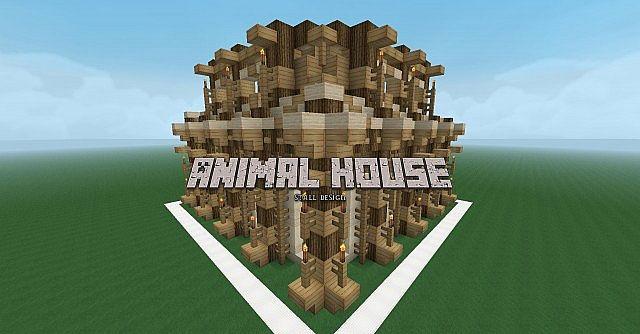 Farmer Animal House Design Detailed Minecraft Project