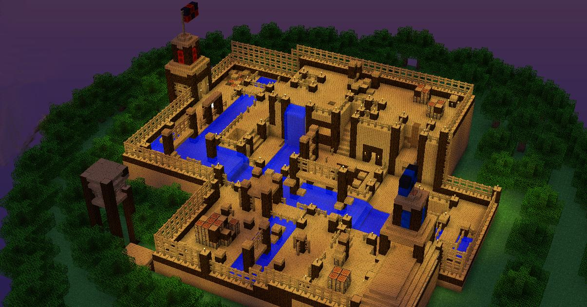 Paintball Map Wood Fort R Vs B Minecraft Project