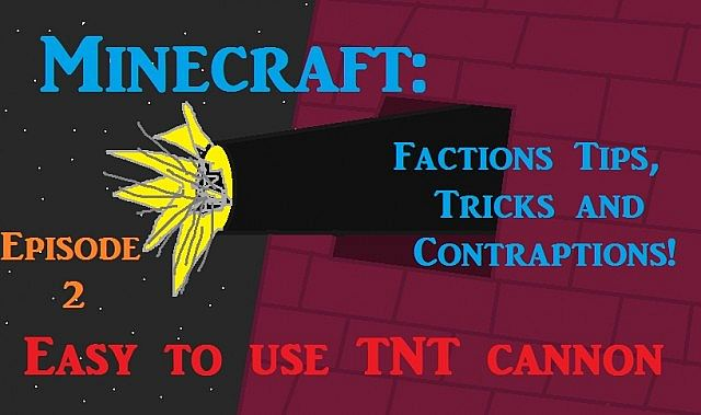minecraft how to build a easy tnt cannon