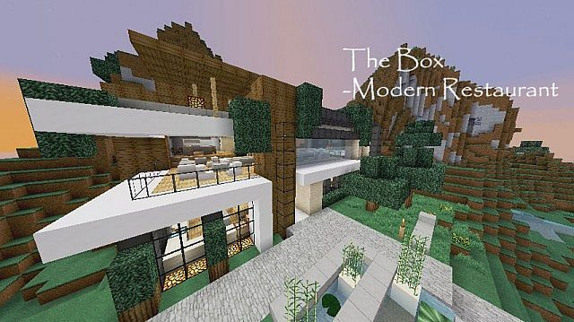 Modern Restaurant The Box Minecraft Project