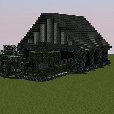Small Obsidian-HouseMinecraft Obsidian House