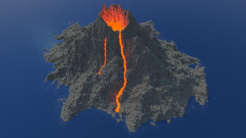 Build Volcano Minecraft