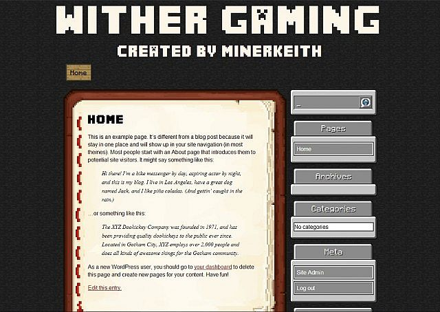MCTheme 1.5.0 - Free WordPress Minecraft Theme Minecraft Project