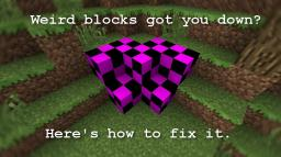 THIS DOESN'T WORK ANYMORE STOP ASKING - Have your textures been replaced with weird pink and black squares? Read here to find out how to fix it! Minecraft Blog Post