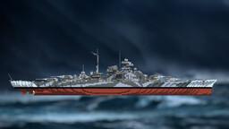 WW2 Battleship - Tirpitz Minecraft Map & Project