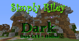 Simply Riley Dark GUI [Dark Mode] Minecraft Texture Pack