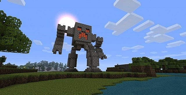 Giant Robot Creeper Statue