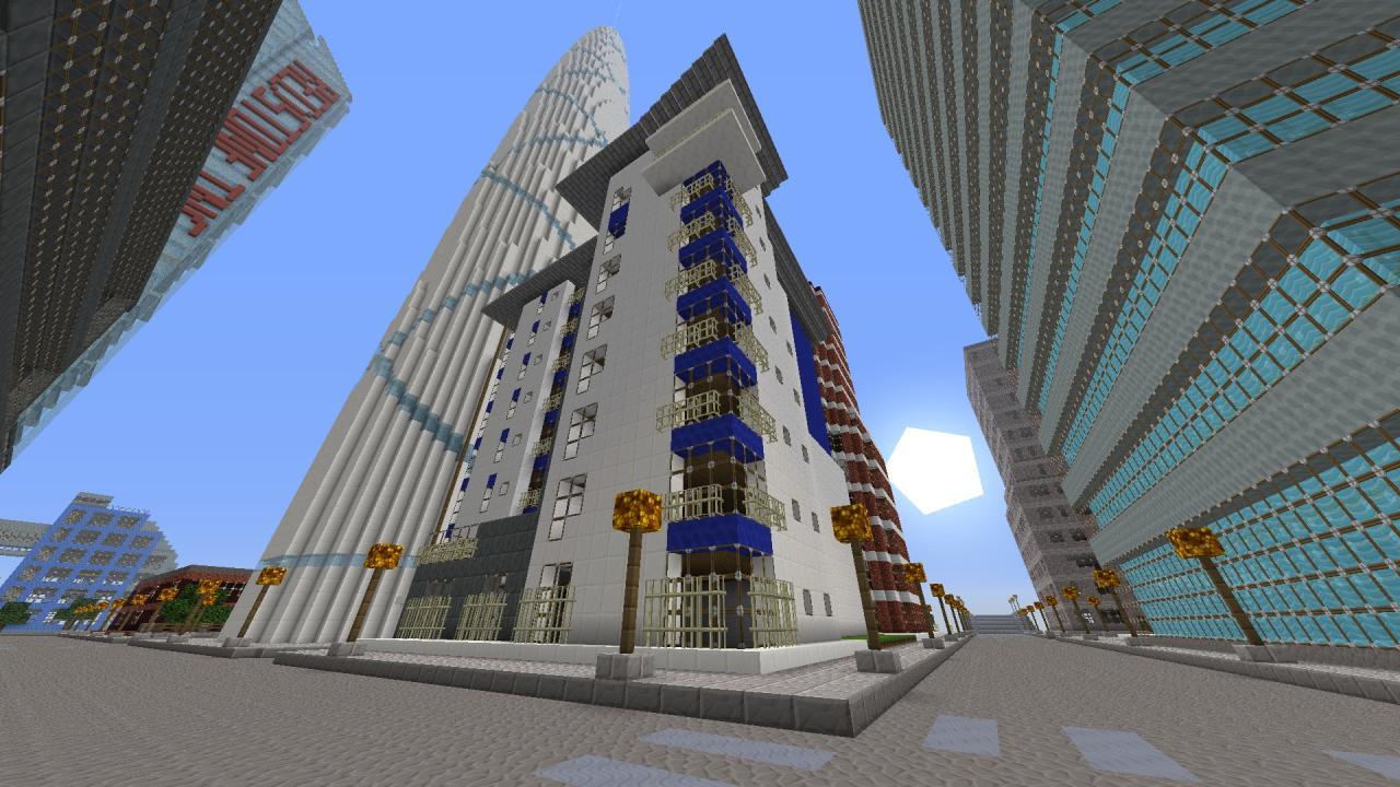 Modern Apartment Complex Minecraft Project - Modern apartment design exterior