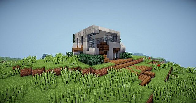 Minecraft house on a hill minecraft modern house for Modern house on hill