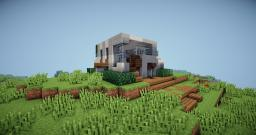 Minecraft House On A Hill - Minecraft Modern House Minecraft Project