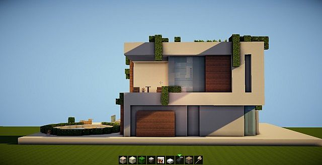Simple modern house sd 2 minecraft project for Simple contemporary house