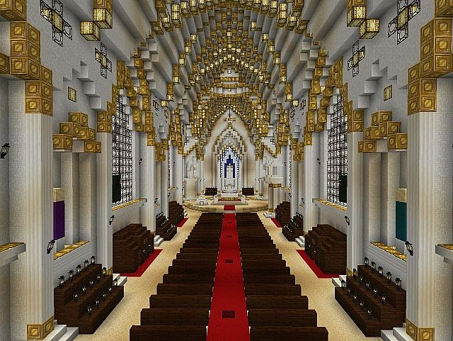 church of our lady of lourdes minecraft project