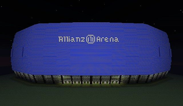 fc bayern munich 39 s stadium 39 allianz arena 39 minecraft project. Black Bedroom Furniture Sets. Home Design Ideas