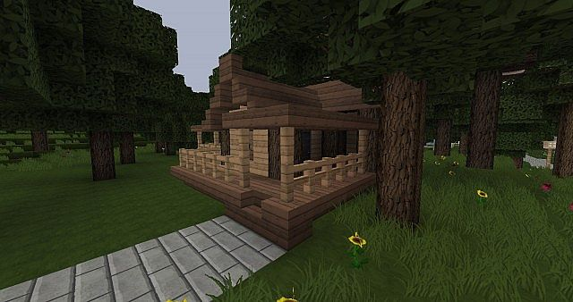 Simple Starter House Schematic Minecraft Project