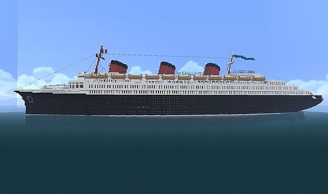 Ss Normandie French Cruise Ship Amp Ocean Liner Minecraft