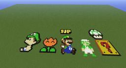 Luigi Pixel Art & More Minecraft Map & Project
