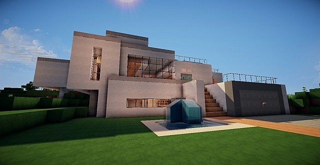 Minecraft modern beach house minecraft project - Modern house minecraft ...