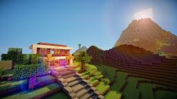 Modern House Is Next To The Volcano. Minecraft