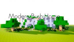 Modern Bush House Minecraft Map & Project
